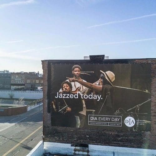 The DIA taps into Mahogany Jones and Effervesce to emit Jazz and Soul to the city in billboard campaign
