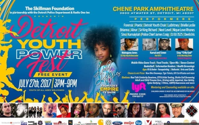 Mahogany Jones moderates Real Talk Sessions panel for Detroit Youth Power Fest at Chene Park